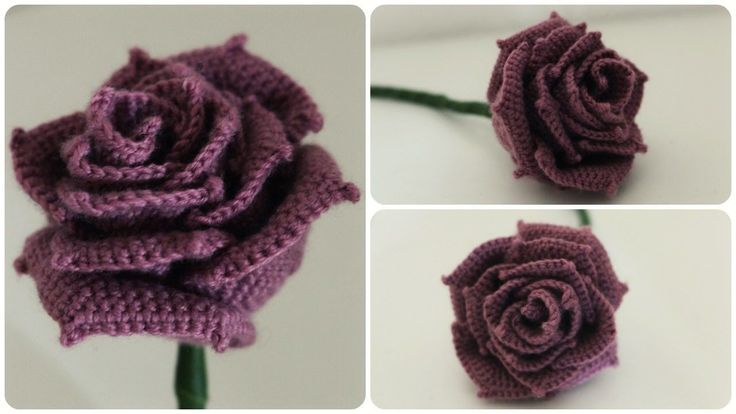 Häkelrose * DIY * Crochet Rose [eng sub] – YouTube