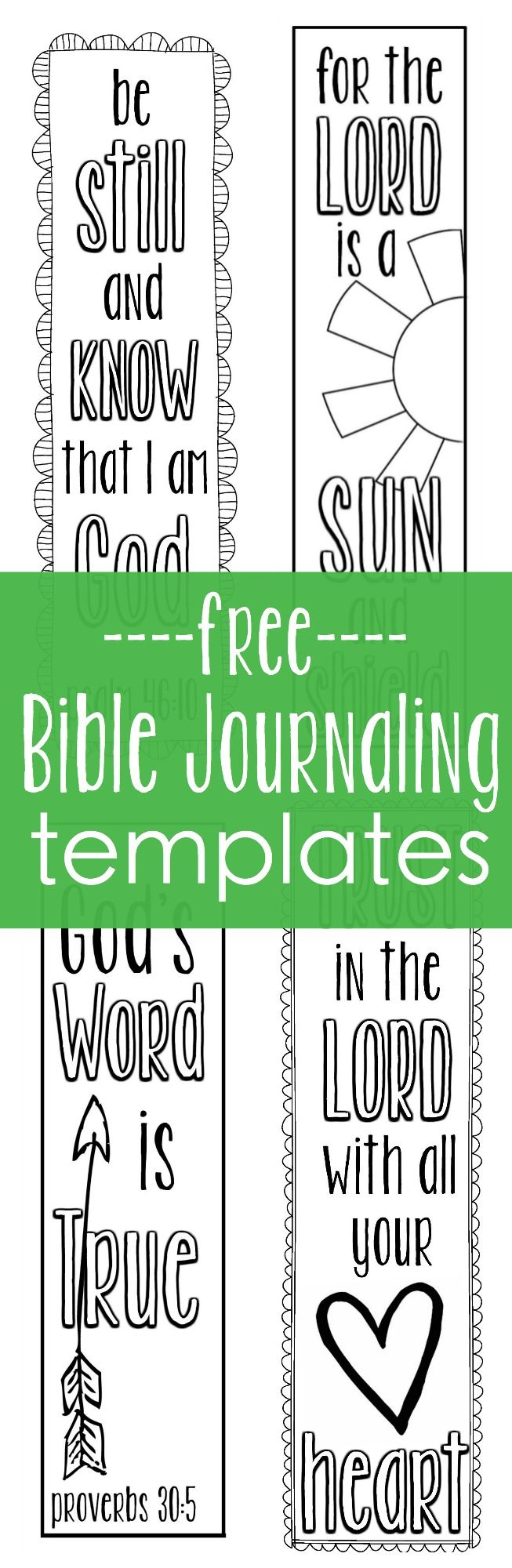 Need help getting started Bible journaling? Use these free Bible Journaling templates that you can print and trace right in the margins of journaling Bible.free Bible journaling templates