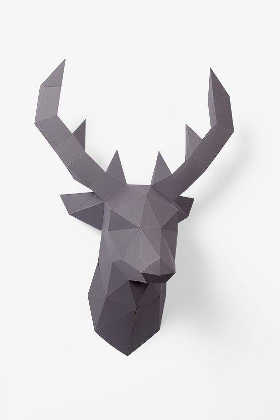 die besten 25 3d origami hirsch ideen auf pinterest 3d origami hirschkopf 3d origami vorlage. Black Bedroom Furniture Sets. Home Design Ideas