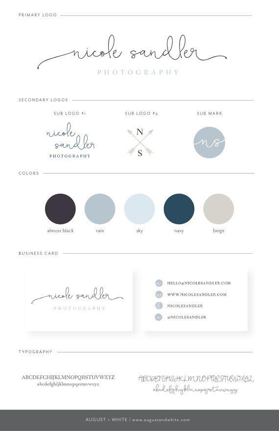 Nicole Premade Branding / Exclusive Branding Package / Custom Logo / Custom Brand Board / Brand / Branding Solutions / Logo Design