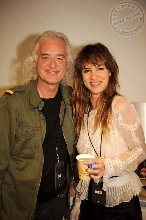 Jimmy Page and actress Juliette Lewis. Photo: Ross Halfin