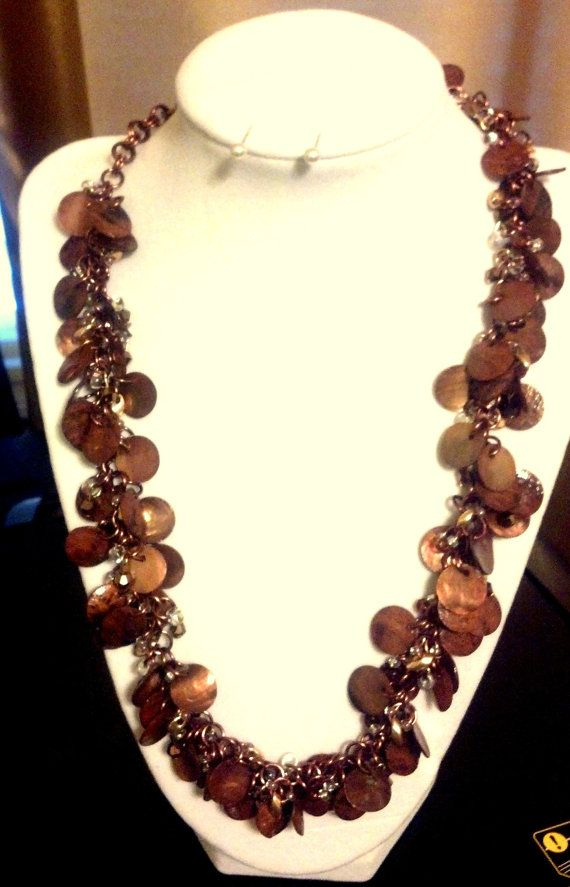 Copper Penny Shaggy Loop #Chainmaille #Necklace by teresadelosh, $75.00