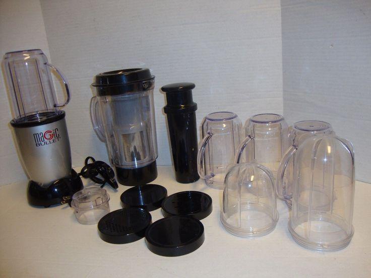 MAGIC BULLET LOT Pitcher Blender Smoothie Cups Blade Fruit Vegetable Juicer   eBay
