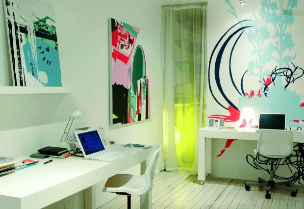 I like this workspace... so colorful: Galleries, Work Rooms, Teen Rooms, Workspaces, Posts, Rooms Ideas, Blog, Home Offices, Teen Room Ideas