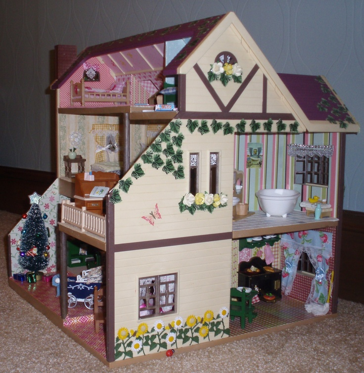 Oakwood Manor   Bathroom and Kitchen  Critters DecoratedDecorated  HousesFamilies Calico. 17 Best images about Sylvanian Families Calico Critters Decorated