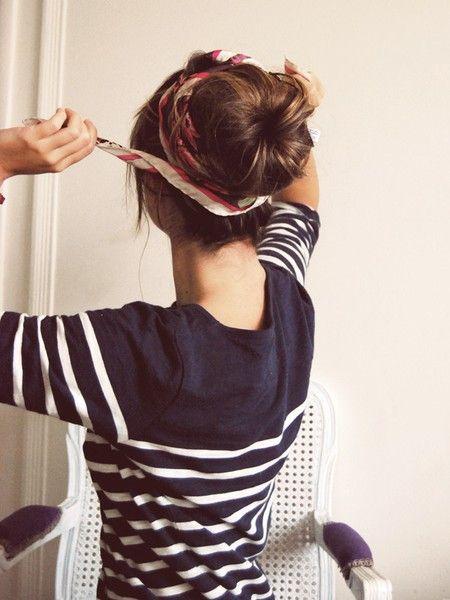 Bun & Scarf Hairstyles