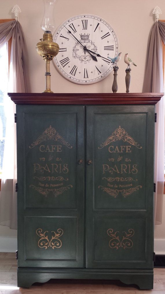 Chalk Painted Cabinet by TheAliviasCloset on Etsy, $310.00
