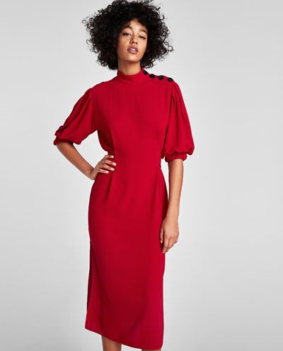 DRESS WITH BUTTONS ON SHOULDER-View all-DRESSES-WOMAN | ZARA United States