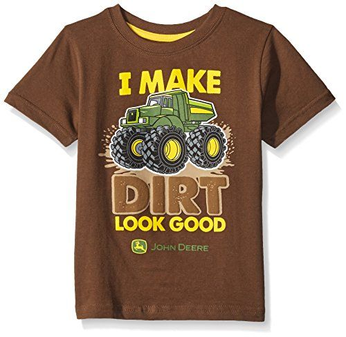 "John Deere Boys' ""I Make Dirt Look Good"" Tee T-Shirt Top. www.YankeeToyBox.com…"