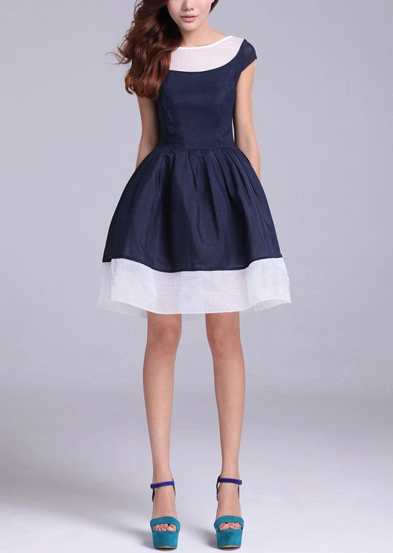 Blue Tulle dress womens dress by happyfamilyjudy