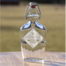 Deeply Etched Vintage Best Man Glass Flask