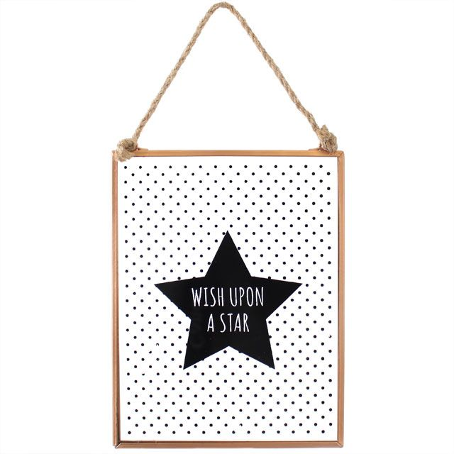 Wish Upon A Star Sign, Kids, Toddler Room Bedroom Decor Ideas, Furnishing and Wall Hanging, Picture For Baby
