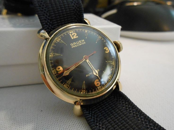 vintage 1940s gruen precision autowind 17 jewels 10k gf military wwii mens watch. Black Bedroom Furniture Sets. Home Design Ideas