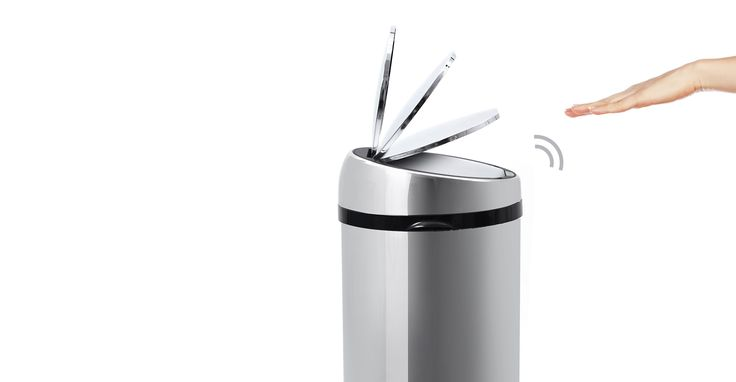 This 50 litre touch-free sensor bin in stainless steel, is hygienic and practical.