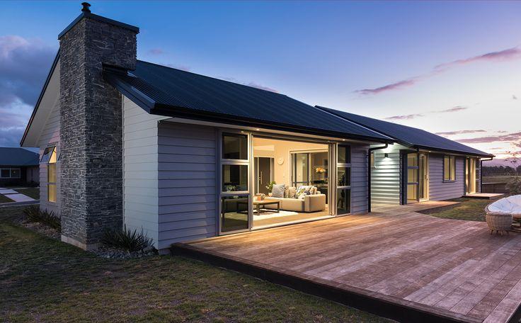 Gable Style Roof With Colorsteel Corrogate Longrun Endura in Black