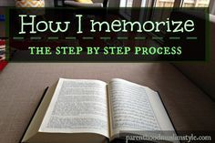 An example of a step by step process of Memorizing the Qur'an.