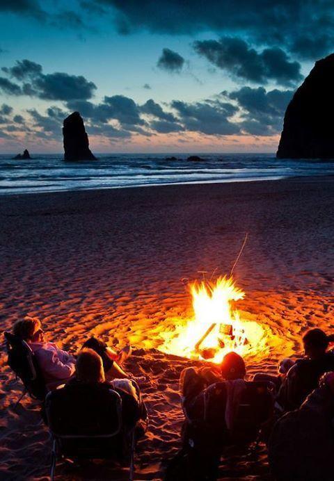 Bonfire at the beach :)