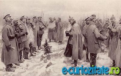 Minunea Craciunului incepe a se asterne usor, ca o plapuma calduroasa peste campul inghetat de lupta. Nu se mai aud impuscaturi, artileria ambelor tabere a amutit … Cui ii mai ardea acum de lupta, cand totul este feeric?  Citeste mai departe: http://e-curiozitate.ro/craciun-1914/