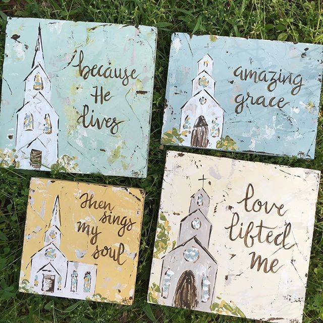 #hymn #churches headed to #downtownmarketplace  #yazoocity #churchpainting #oldhymns #haleybdesigns