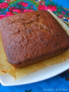 Double ginger cake - recipe by Nigel Slater...