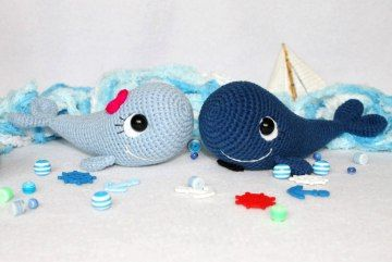 Free Amigurumi English Pattern Crochet Whale
