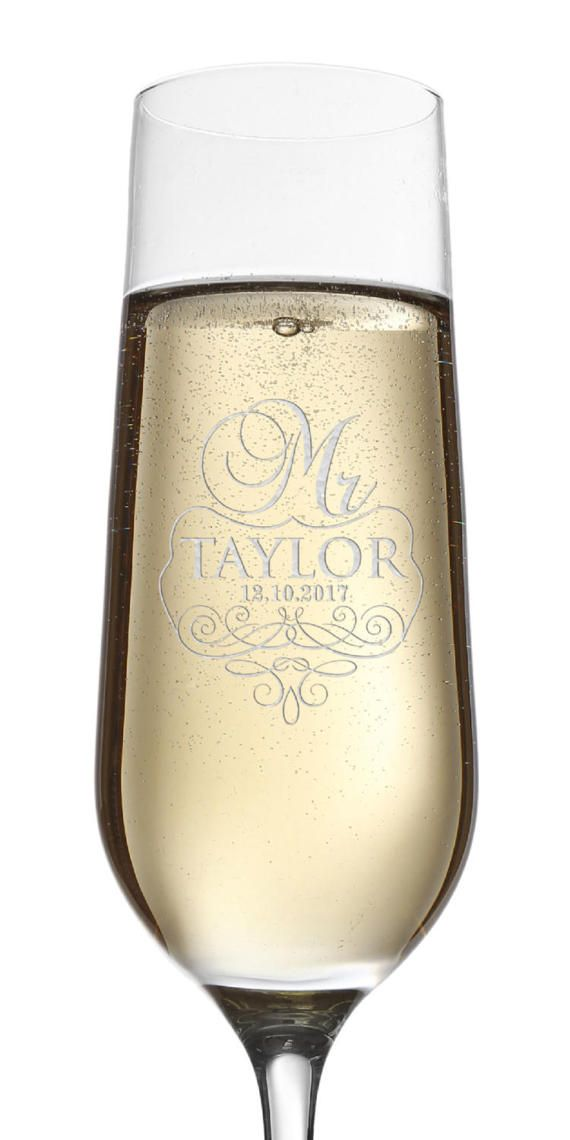 Set of 2, Mr. Mrs. Wedding Toasting Flutes and Glasses, Wedding Champagne Glasses, Engraved Champagne Flutes, Personalized Champagne Glass 2   The glass has a tall, slender shape which keeps the bubbles alive for longer, enhancing your experience of the champagne or sparkling wine. Let us help you create a custom Champagne Flute for Wedding Toast for your special day. Please feel free to contact us with your requests – our team is ready to create a unique product just for you. If you have…