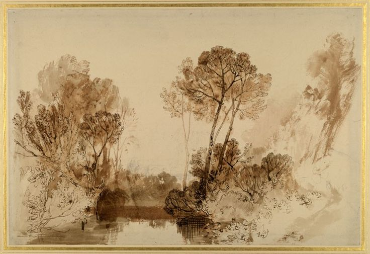 Study of Trees Joseph Mallord William Turner, c.1810 - 1815 © University of…