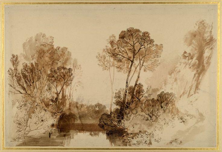 Study of Trees  Joseph Mallord William Turner, c.1810 - 1815  © University of Oxford - Ashmolean Museum