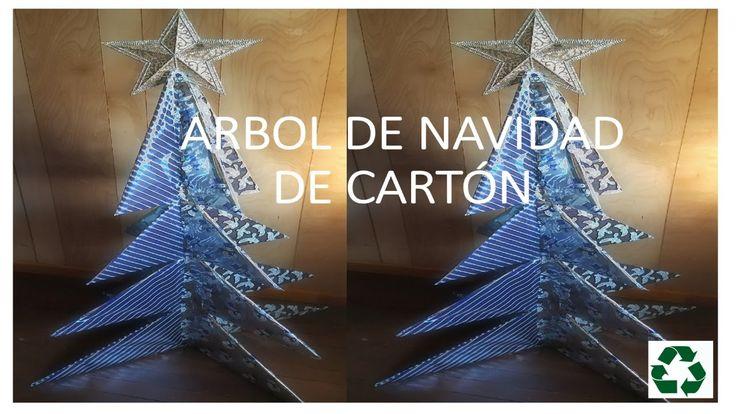 ARBOL DE NAVIDAD DE CARTON / CARDBOARD CHRISTMAS TREE