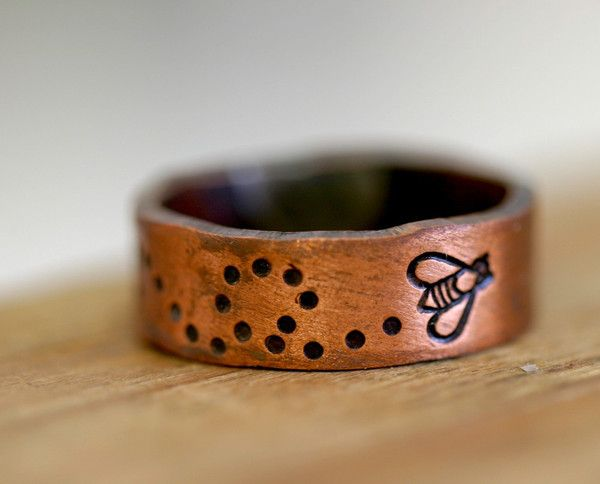 Bumble Bee Ring Copper by Monkeys Always Look