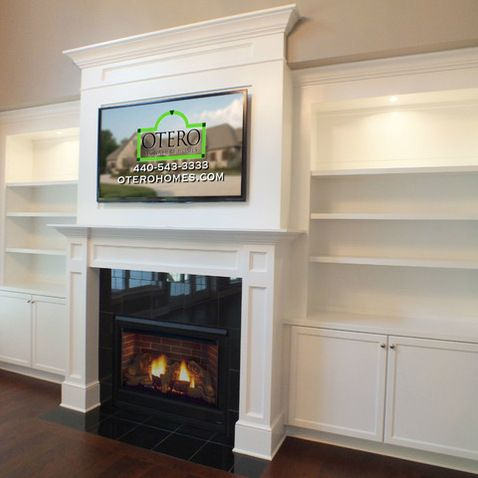 Fireplace On Pinterest Painted Brick Fireplaces Fireplaces And