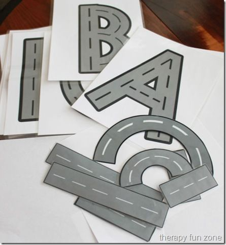 Letter Roads and pieces.  It looks like it uses the same concept as HWT.  Going to print these out for school next year!