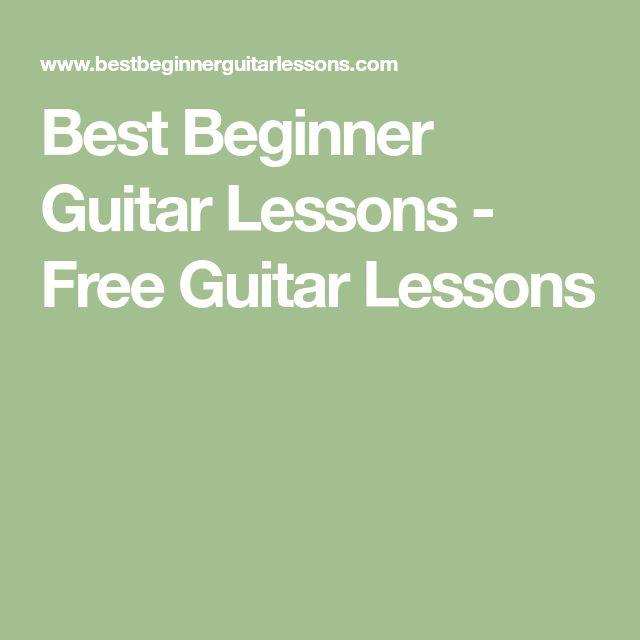 Best Beginner Guitar Lessons - Free Guitar Lessons