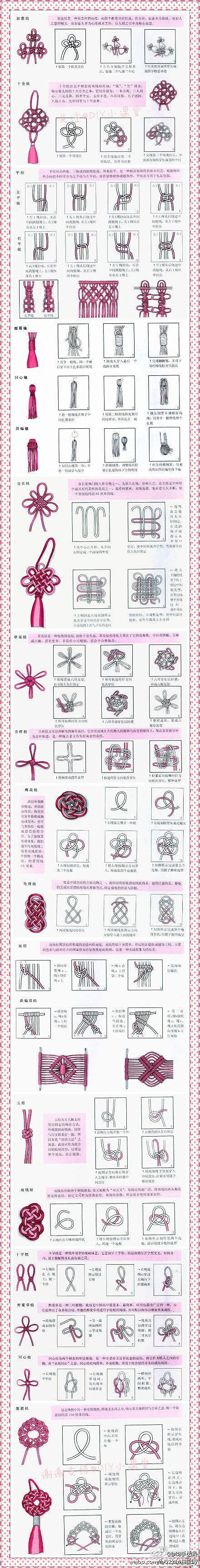 Different Knots for macrame