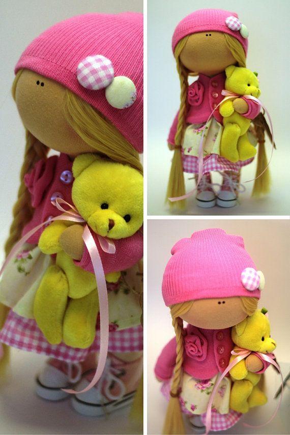 Baby doll Fabric doll Spring doll handmade by AnnKirillartPlace