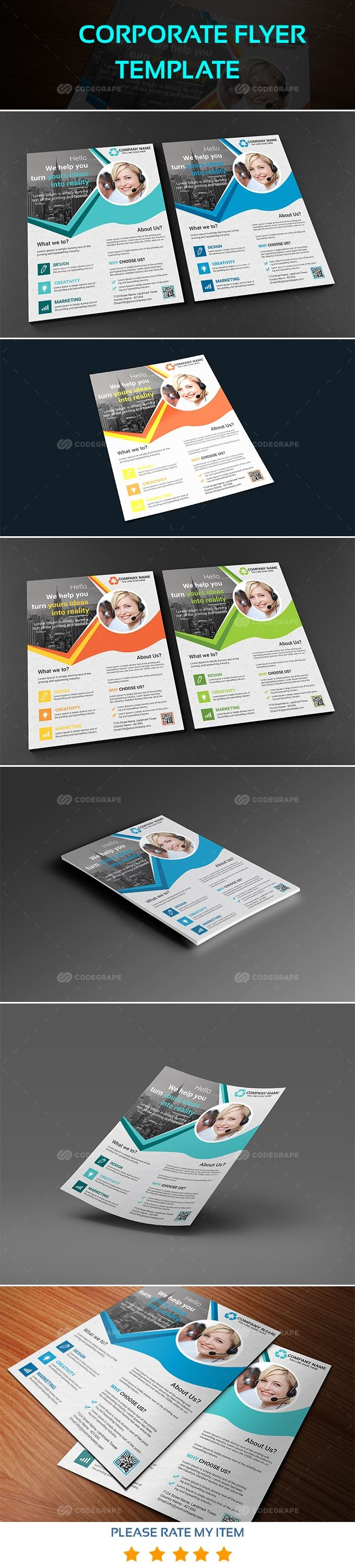 Corporate Flyer Template on @codegrape. More Info: https://www.codegrape.com/item/corporate-flyer-template/18068