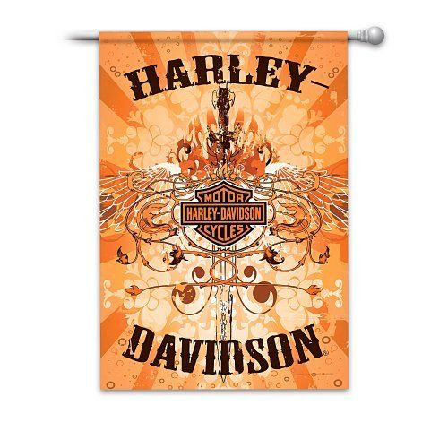 Ultimate Harley-Davidson Flag Collection by Hamilton. $24.99. Satisfaction Guaranteed: Free Returns for 365 Days. Harley-Davidson® flag collection lets you fly your Harley® pride all year round, exclusively from The Hamilton Collection. Officially licensed by the Harley-Davidson Motor Company. Share your Harley® pride and love of the open road all year long with this Harley-Davidson® flag collection. Each flag in this collection proudly displays the spirit...