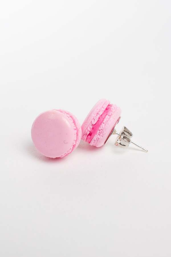 These tiny pastel macaroon earrings will satisfy your sweet tooth! Handmade in the USA by Fatally Feminine Designs.