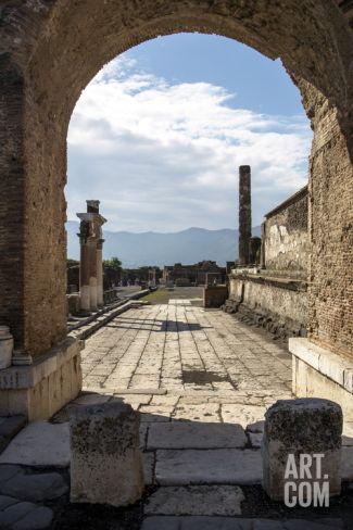 Pompeii Ruins, UNESCO World Heritage Site, Campania, Italy, Europe Photographic Print by Angelo Cavalli at Art.com