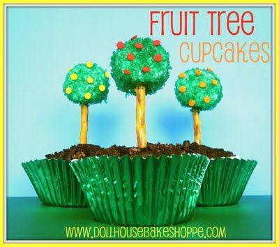Plant a tree... plant a marshmallow fruit tree in a cupcake.  :)  Kids will get the idea.