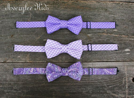 Purple Boys Bow Ties, Lavender, Orchid, Toddler to Teen Bow Ties, Wedding Ring Bearer, Baptism, Page Boy