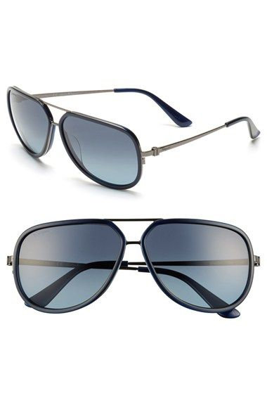 Salvatore Ferragamo 60mm Aviator Sunglasses available at #Nordstrom