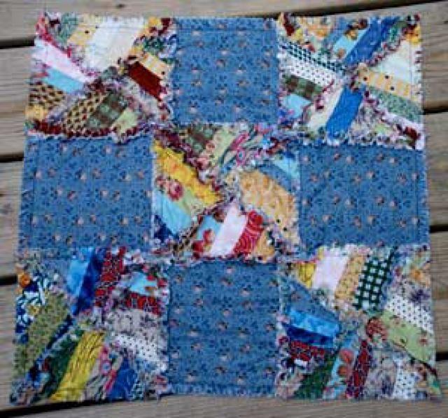 47 best rag quilts images on Pinterest | Rag quilt, Quilting ideas ... : string pieced rag quilt pattern - Adamdwight.com