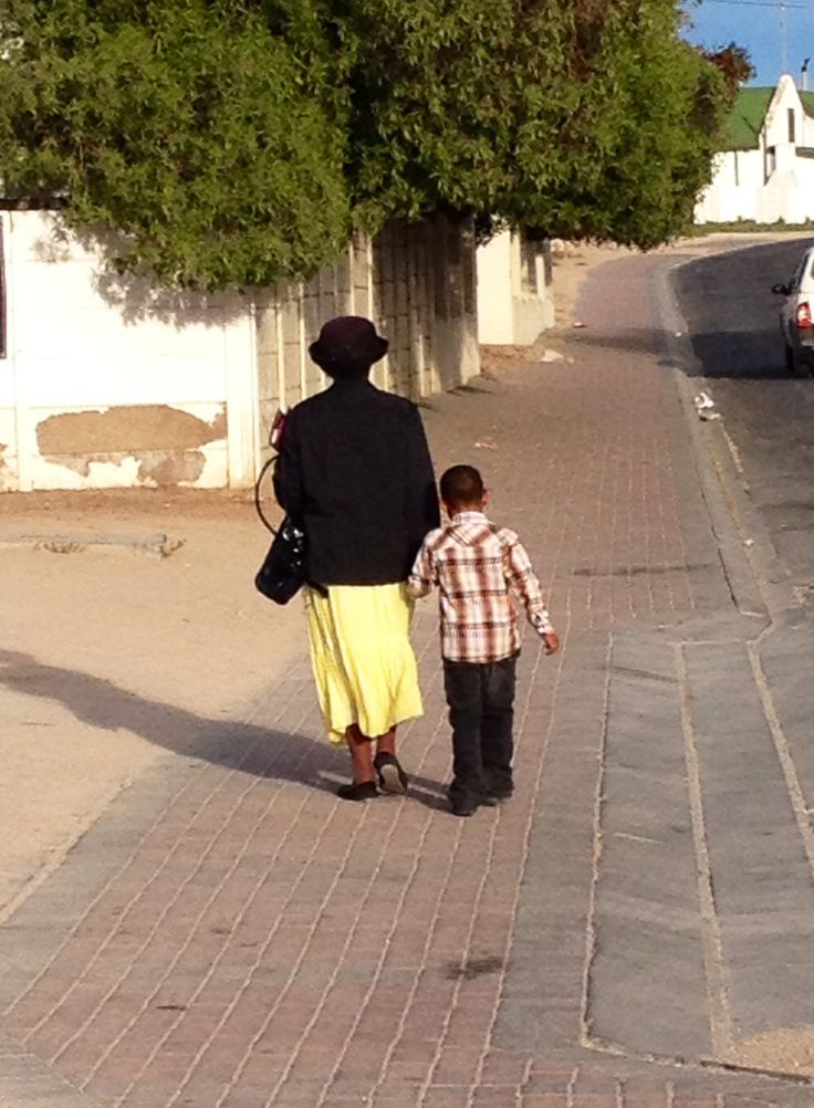 Dressed up and off to church on Sunday morning, Paternoster.