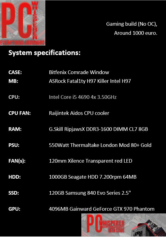 System specifications https://www.facebook.com/kokerakos