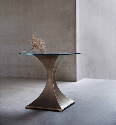 The Capricorn Side Table with Rose Pewter finish