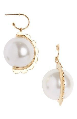 Half Scallop Imitation Pearl Drop Earrings More Must Have Summer Styles From The Nordstrom By Notjessfashion