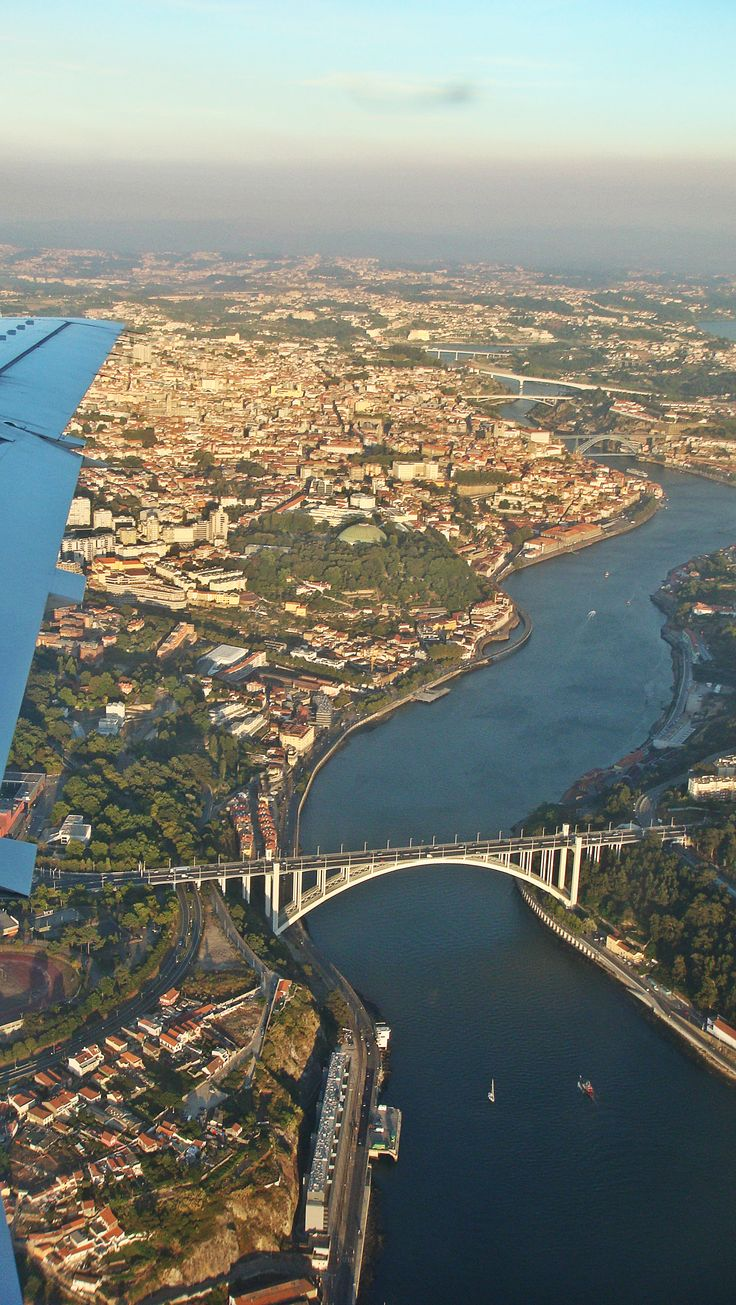 city of porto from view plane