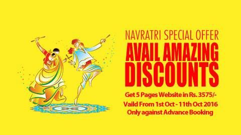 Happy Navratri  #Navratri Special #Offers Get 5 Pages #Website with #WebDesigning, #Domain and #Hosting Vaild From 1st Oct - 11th Oct 2016 Only against Advance Booking of Rs. 3575/- http://www.globalwebslink.com/