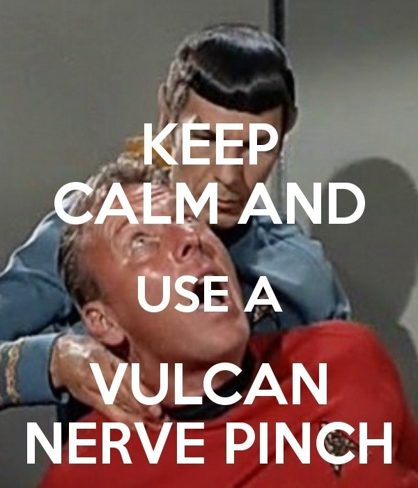 Spock is the man :). It should be Vulcan death grip